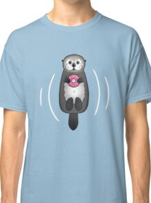 Sea Otter with Donut - Cute Otter Holding Doughnut with Little Paws Classic T-Shirt