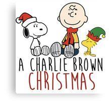 Charlie Brown - Christmas Canvas Print