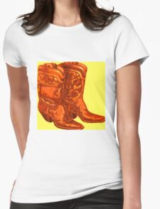 Cowboy Boots Womens Fitted T-Shirt