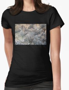 ice feathers Womens Fitted T-Shirt