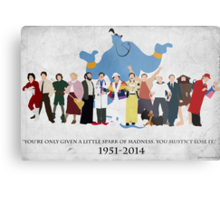 Minimalist Inspired Robin Williams Character Tribute Metal Print