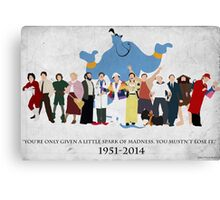 Minimalist Inspired Robin Williams Character Tribute Canvas Print