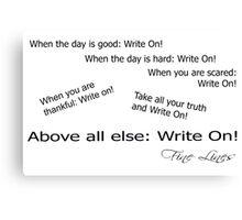 Fine Lines  - Write On! Canvas Print
