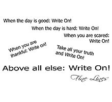 Fine Lines  - Write On! Photographic Print