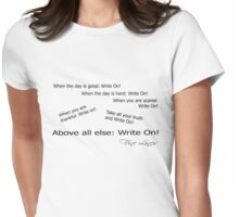 Fine Lines  - Write On! Womens Fitted T-Shirt