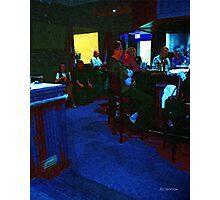 Blue Bar on a Monday Photographic Print