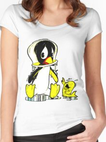Penguin Bowl Women's Fitted Scoop T-Shirt