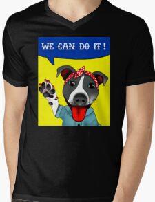 Lu the Riveter! Mens V-Neck T-Shirt