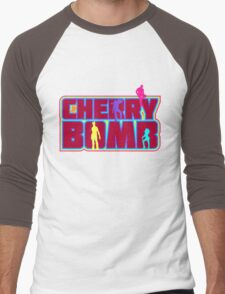Cherry Bomb (Text) Men's Baseball ¾ T-Shirt