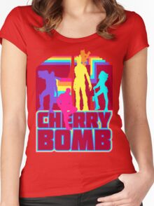 Cherry Bomb (Full) Women's Fitted Scoop T-Shirt