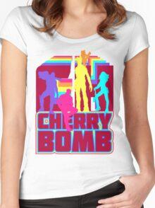 Cherry Bomb (Full) Women's Fitted Scoop T-Shirt