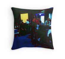 Blue Bar on a Monday Throw Pillow