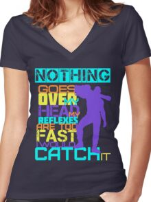 Nothing Goes Over My Head Women's Fitted V-Neck T-Shirt