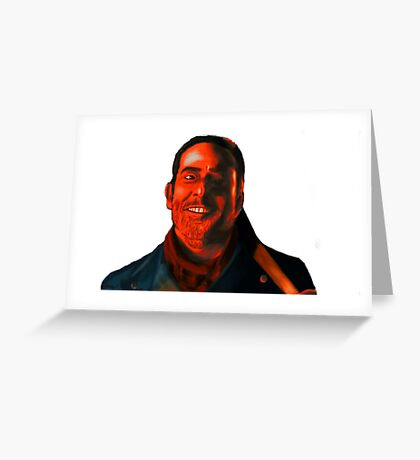 Negan Fanart- Crimson Ver. Greeting Card