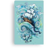Wow It's a ship Tshirt Canvas Print
