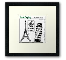 Cartoon : Leaning Tower of Pisa Italy Framed Print