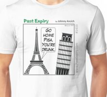 Cartoon : Leaning Tower of Pisa Italy Unisex T-Shirt