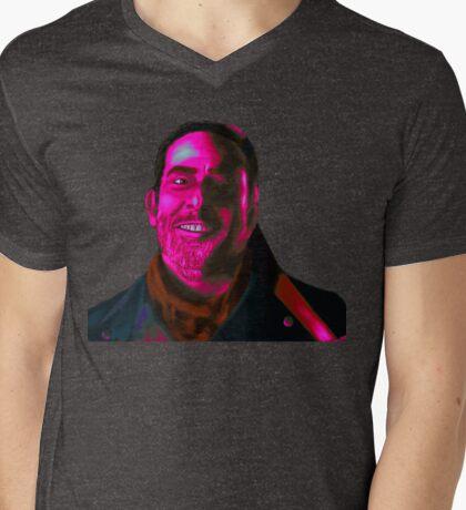 Negan Fanart- Magenta Ver. Mens V-Neck T-Shirt