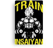 TRAIN INSAIYAN (Vegeta Lifting Dumbbells) Canvas Print