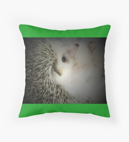 hedgehog curled in a ball Throw Pillow