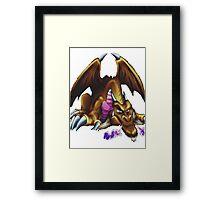 thousand dragon yugioh Framed Print