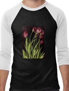 Watercolor Tulips Men's Baseball ¾ T-Shirt