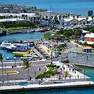 View From the Ship at Kings Wharf Bermuda by Lucinda Walter