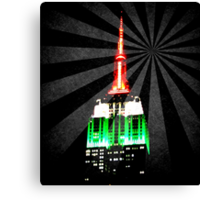 The Empire State Building on a warm summer night Canvas Print