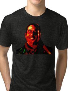 Negan Fanart- Posterized Copper Ver. Tri-blend T-Shirt