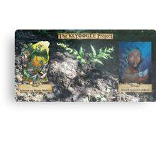 Klyoogle Project Rainforest Fundraiser Fern Print: Shiptu Shaboo & Jasmine Jefferys Metal Print