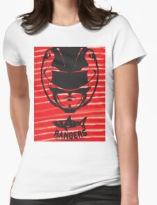 Red Ranger Womens Fitted T-Shirt