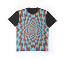 Psychedelic Optical Illusion Rainbow Pattern Graphic T-Shirt