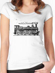 Vintage European Train  Women's Fitted Scoop T-Shirt