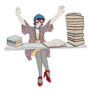 Too Fond Of Books by redqueenself