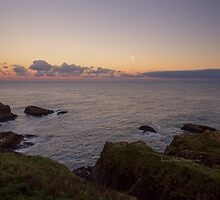 Sunset on Cruden Bay, Slains Castle - North East coast of Aberdeenshire, Scotland by Yannik Hay