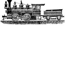 Vintage European Train A2 by cartoon