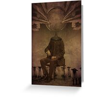 Follow him...he will lead you Greeting Card