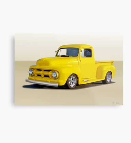 1952 Ford F100 Custom Pickup Metal Print