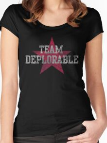 Team Deplorable  Women's Fitted Scoop T-Shirt