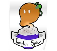 Pumpkin Spice Coffee Ghost Poster