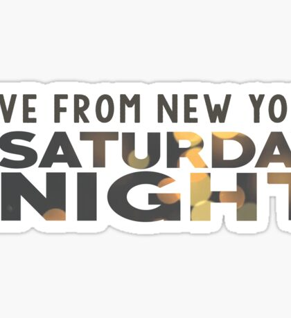 Saturday Night Live (SNL) Sticker Sticker