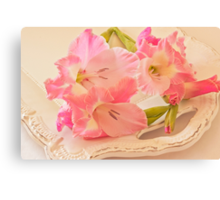 Gladiolas In Pink Canvas Print