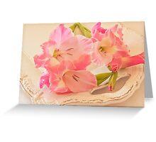 Gladiolas In Pink Greeting Card
