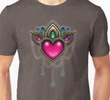 Heart of Stones - Victorian Tattoo Style - Draped Jewels and Gems Unisex T-Shirt