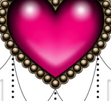 Heart of Stones - Victorian Tattoo Style - Draped Jewels and Gems Sticker