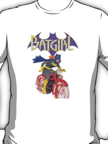 Batgirl on Batbike T-Shirt