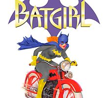 Batgirl on Batbike by TheWrightMan