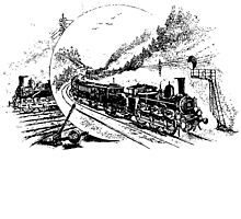 Vintage European Train A5 by cartoon