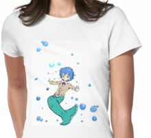 Bow Tie Merman Womens Fitted T-Shirt
