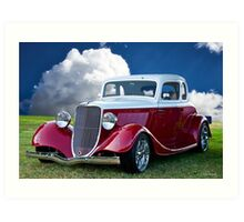 1934 Ford 'Five Window' Coupe II Art Print